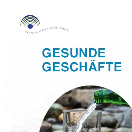 Folder: Gesunde Geschäfte mit Heil- und Mineralwasser