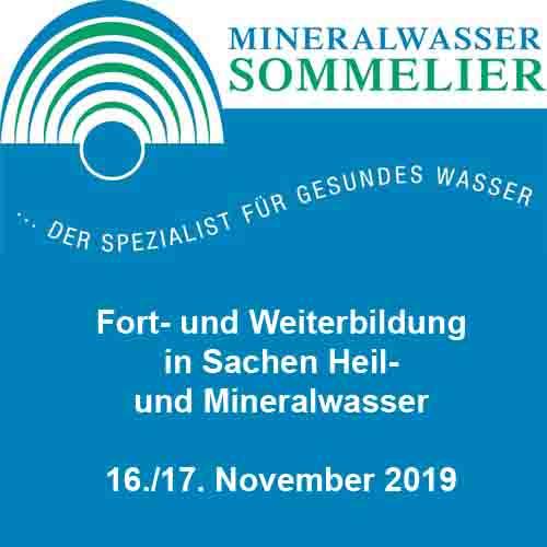 Mineralwassersommelier-Lehrgang 2017/2018